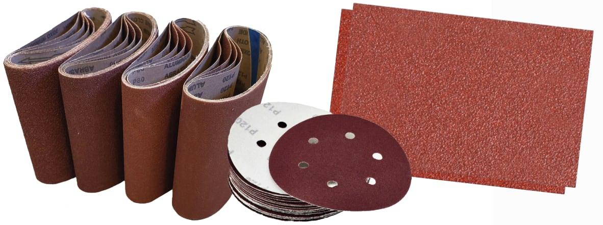 Sandpapper som används för golvslipning