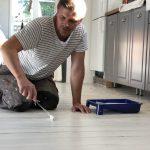 Slipa och måla trägolv, Bosch excenterslip